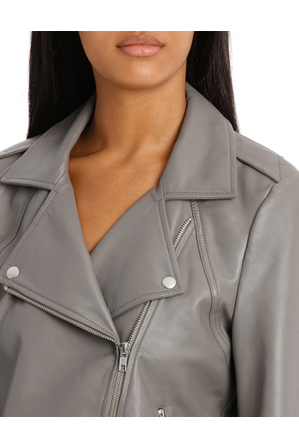 Piper - Jacket Leather with Zip detail