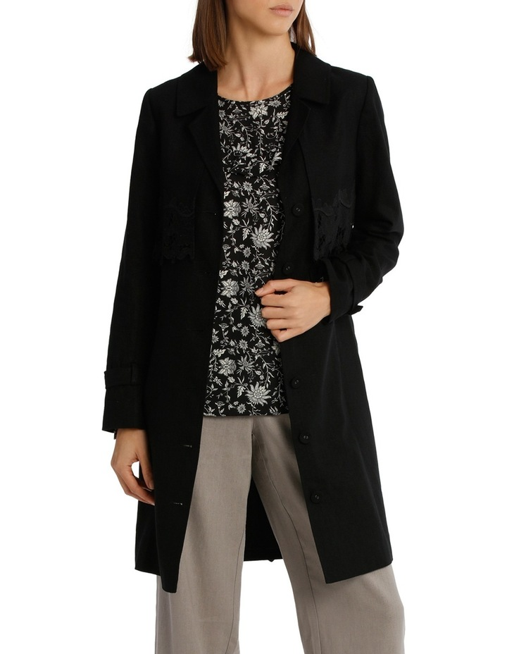 Trench With Lace Panel image 1