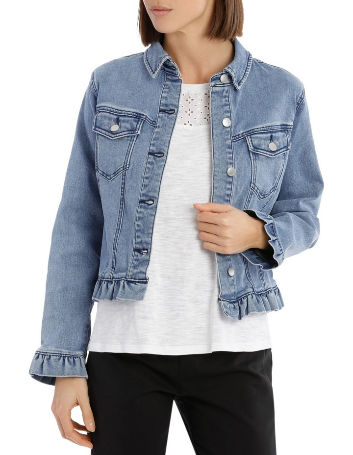 Denim Jacket Ruffle image 1