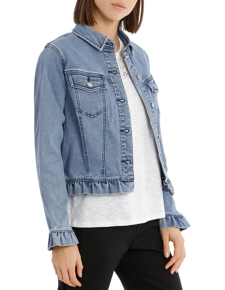 Denim Jacket Ruffle image 2