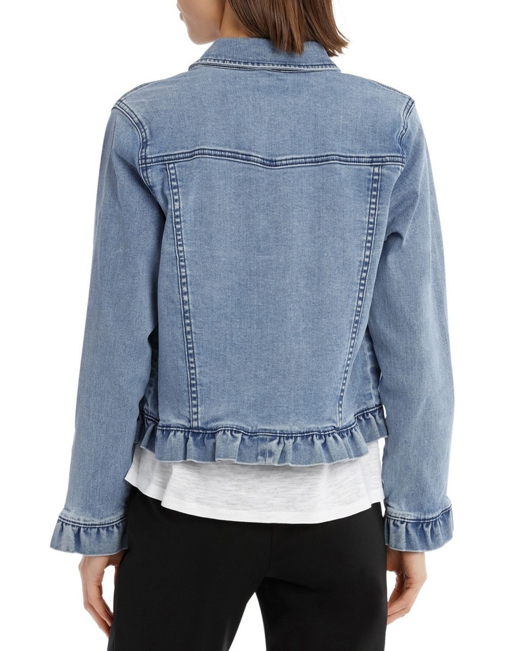 Denim Jacket Ruffle image 3