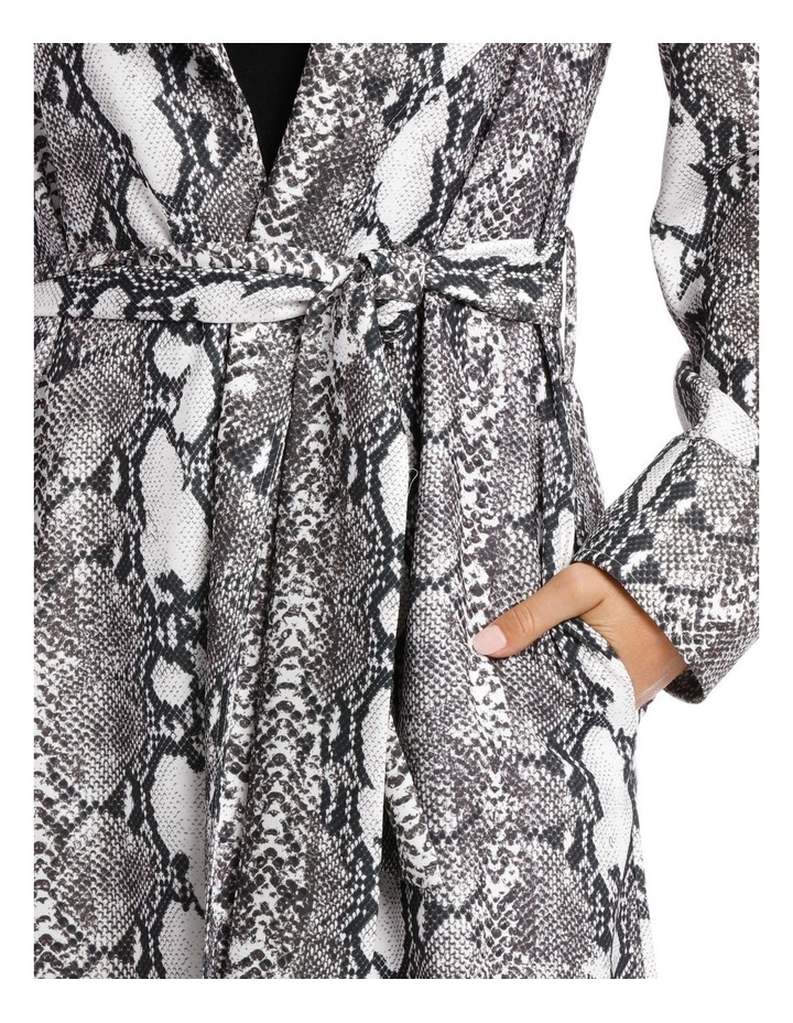 Snake Print Trench Longline Bounded Seams image 4