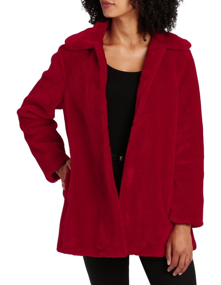 Fashion Coat Fur With Collar image 1