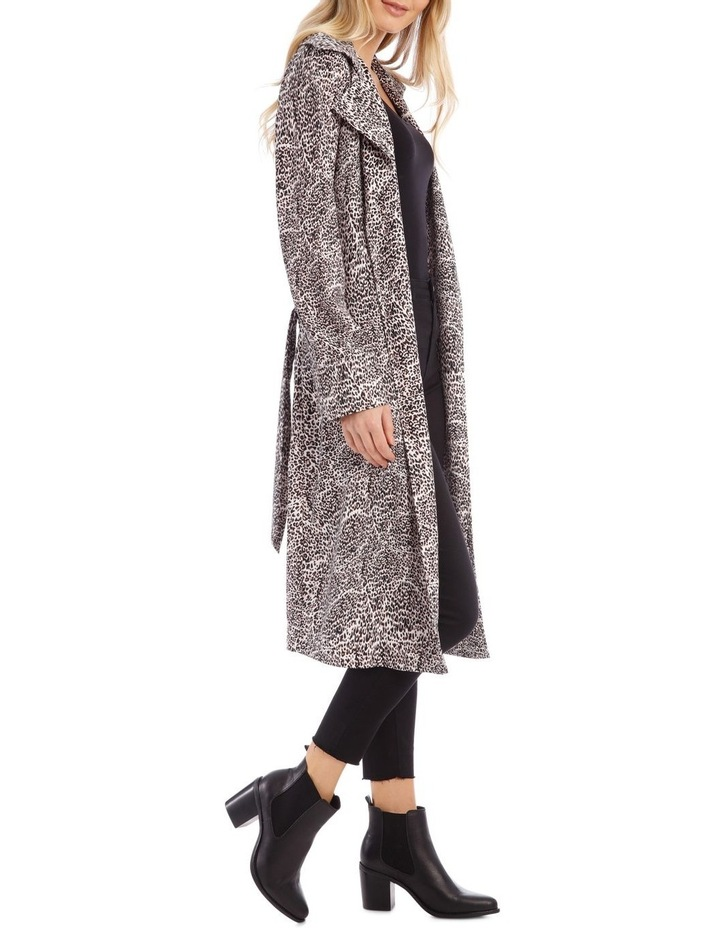 Animal Print Longline Bounded Seams Trench image 2