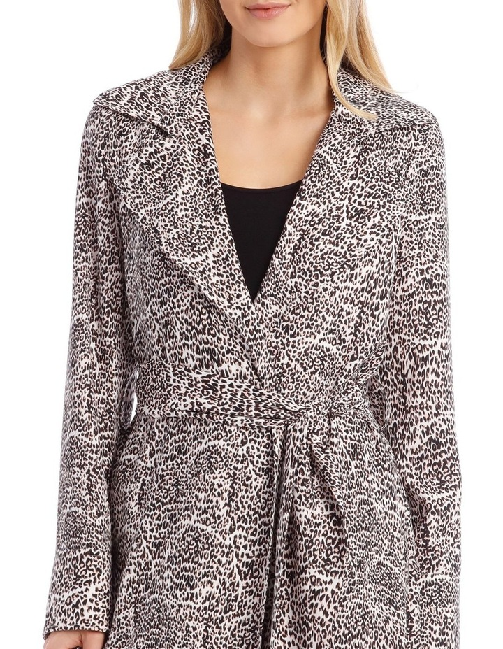 Animal Print Longline Bounded Seams Trench image 4
