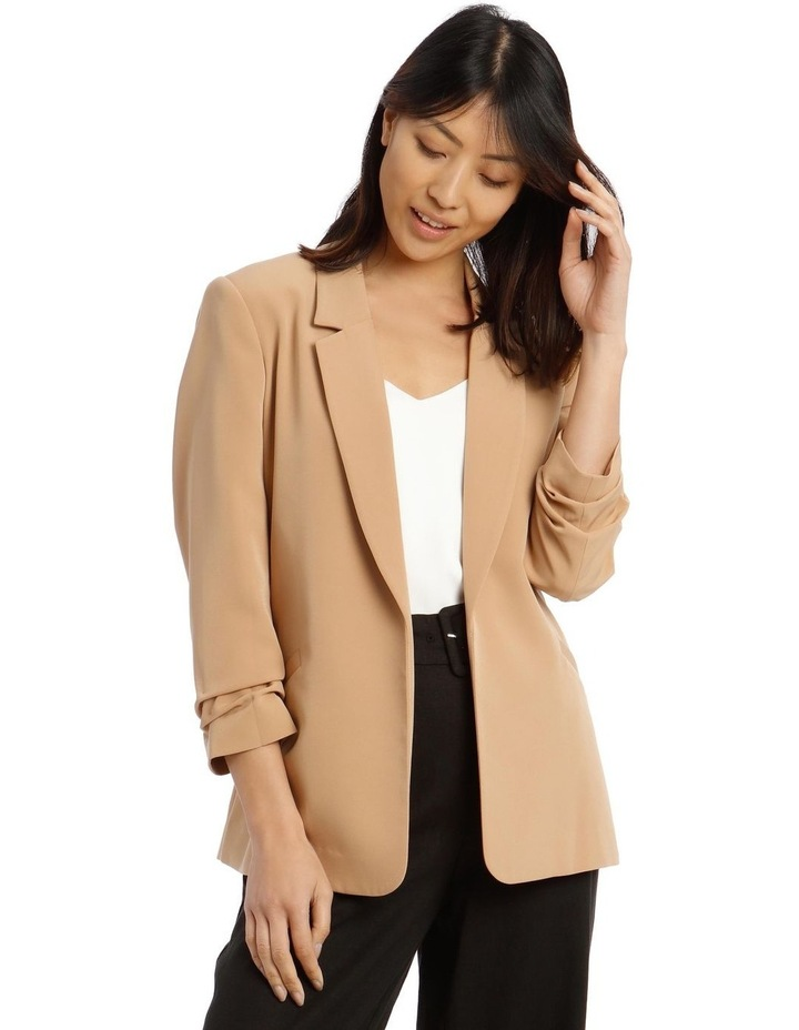 Jacket Belted with Ruched Sleeve image 1