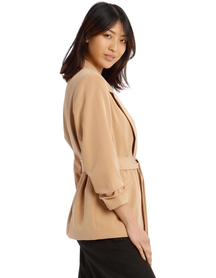 Jacket Belted with Ruched Sleeve image 2