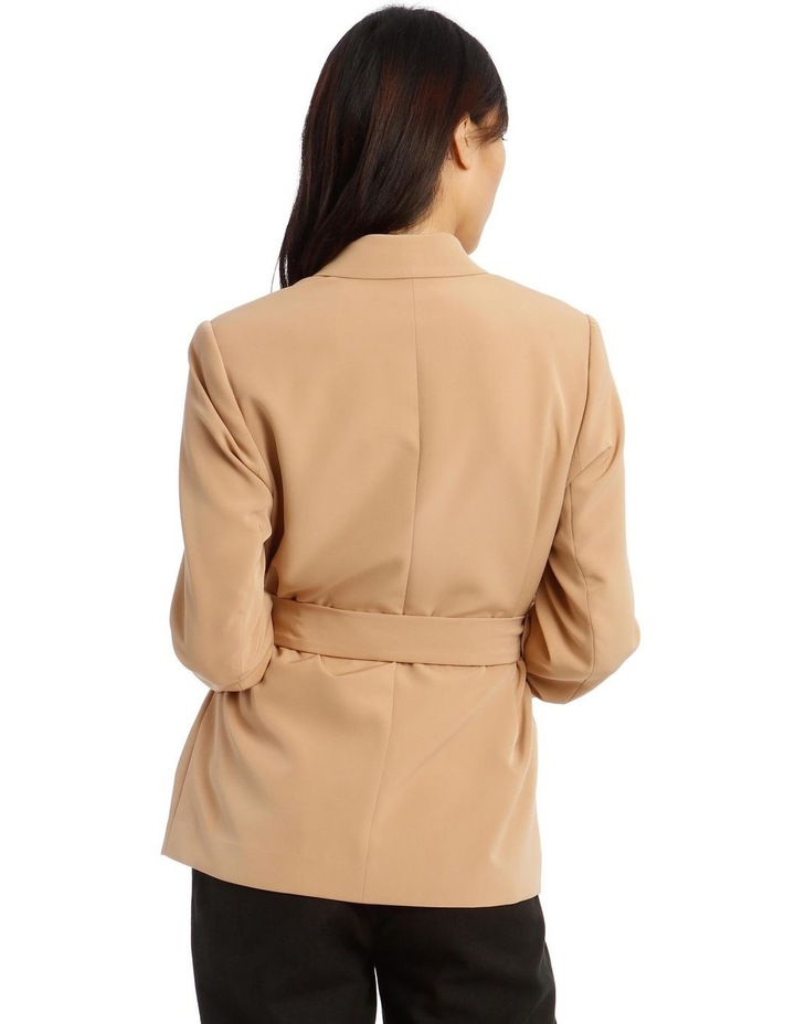 Jacket Belted with Ruched Sleeve image 3