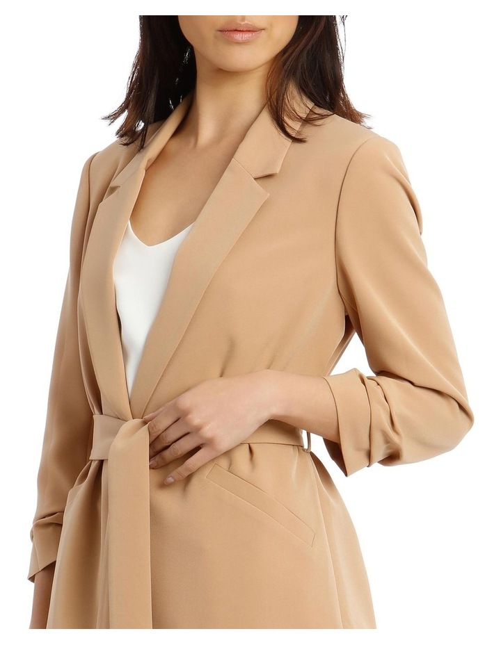 Jacket Belted with Ruched Sleeve image 4