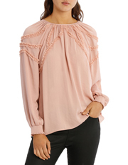 Piper - Top Ruffle Bruised Polyester