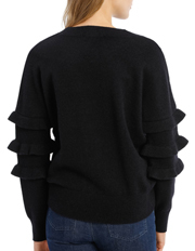 Piper - Sweater With Ruffle Sleeve Crew neck