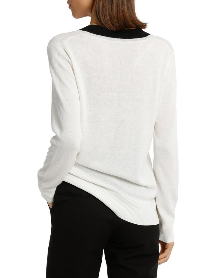 Sweater Vee Neck Cricket Style Lurex Tipped image 3