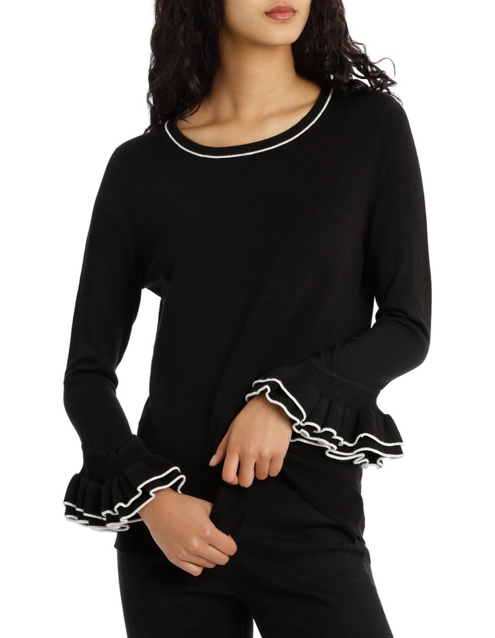 Sweater 3/4 Sleeve With Frill image 1