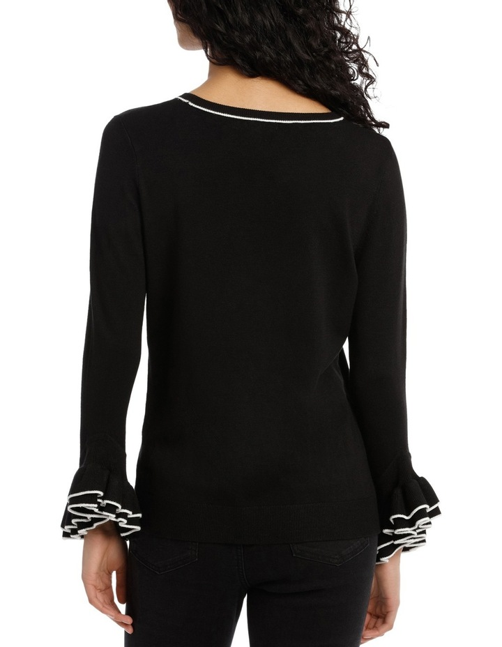 Sweater 3/4 Sleeve With Frill image 3