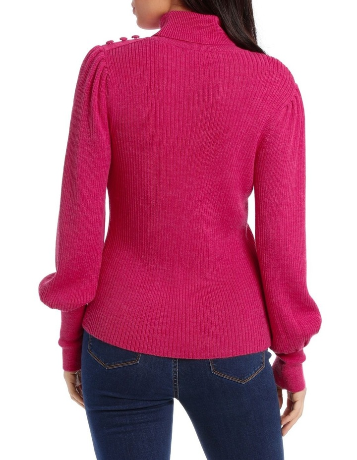 Sweater Roll Neck with Self-Button Detail image 3