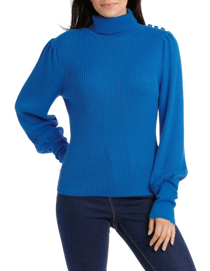 Sweater roll Neck with self button Detail image 1