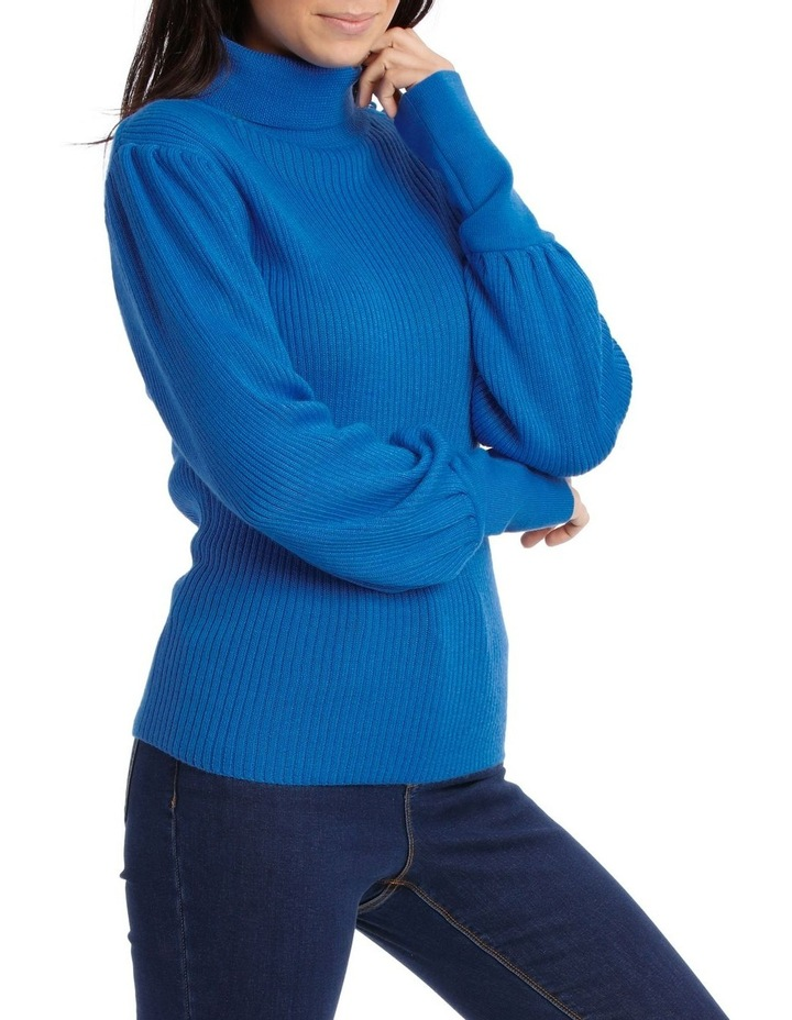 Sweater roll Neck with self button Detail image 2