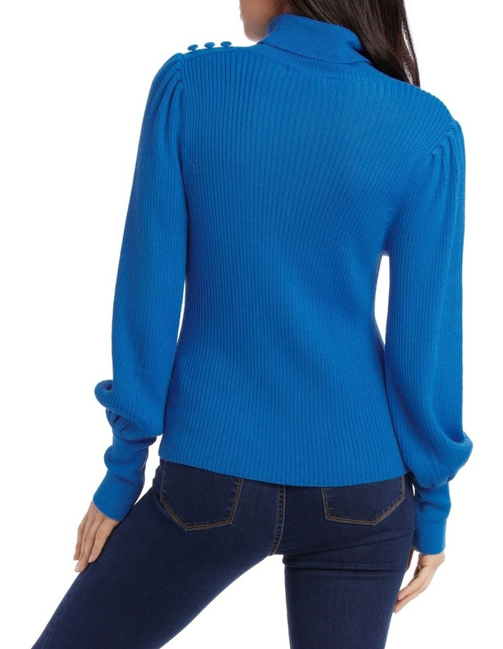 Sweater roll Neck with self button Detail image 3