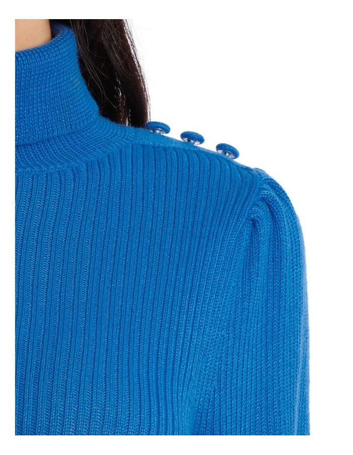 Sweater roll Neck with self button Detail image 4
