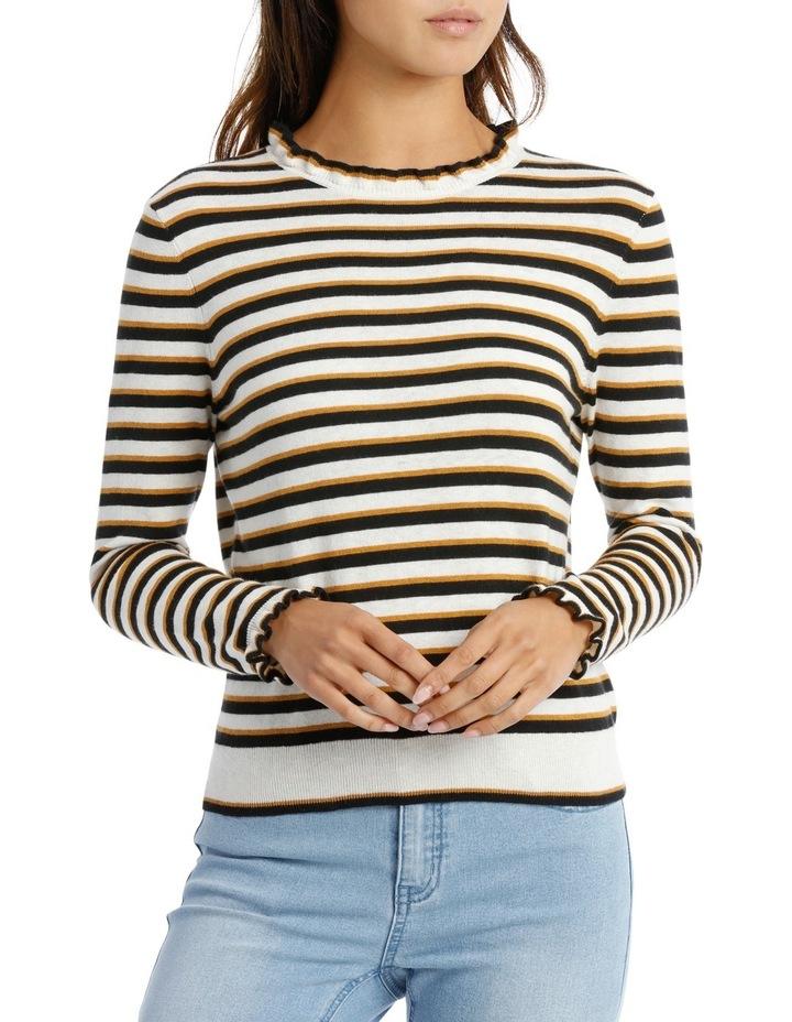 Ruffle Sleeve Sweater 3/4 Sleeve image 1