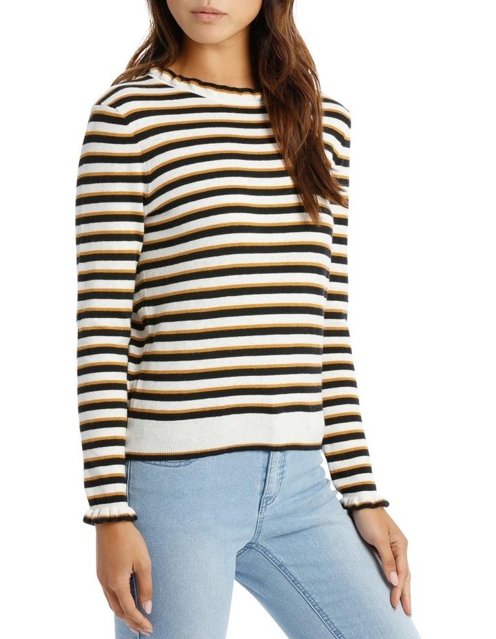 Ruffle Sleeve Sweater 3/4 Sleeve image 2