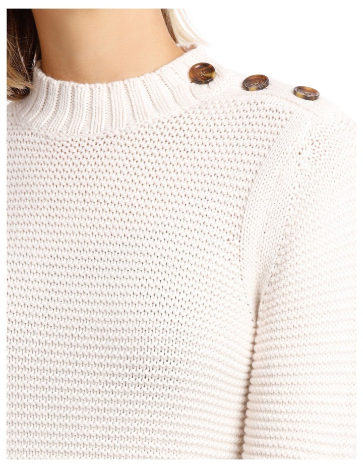 Sweater Peplum Button Detail image 4