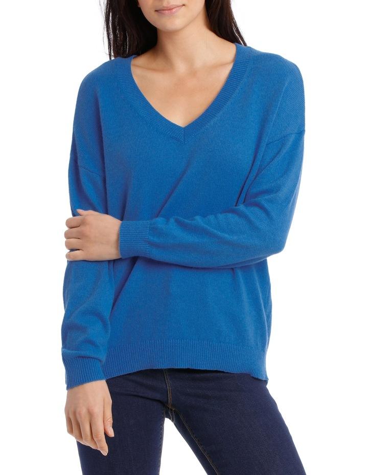 Vee Neck Sweater Hi low image 1