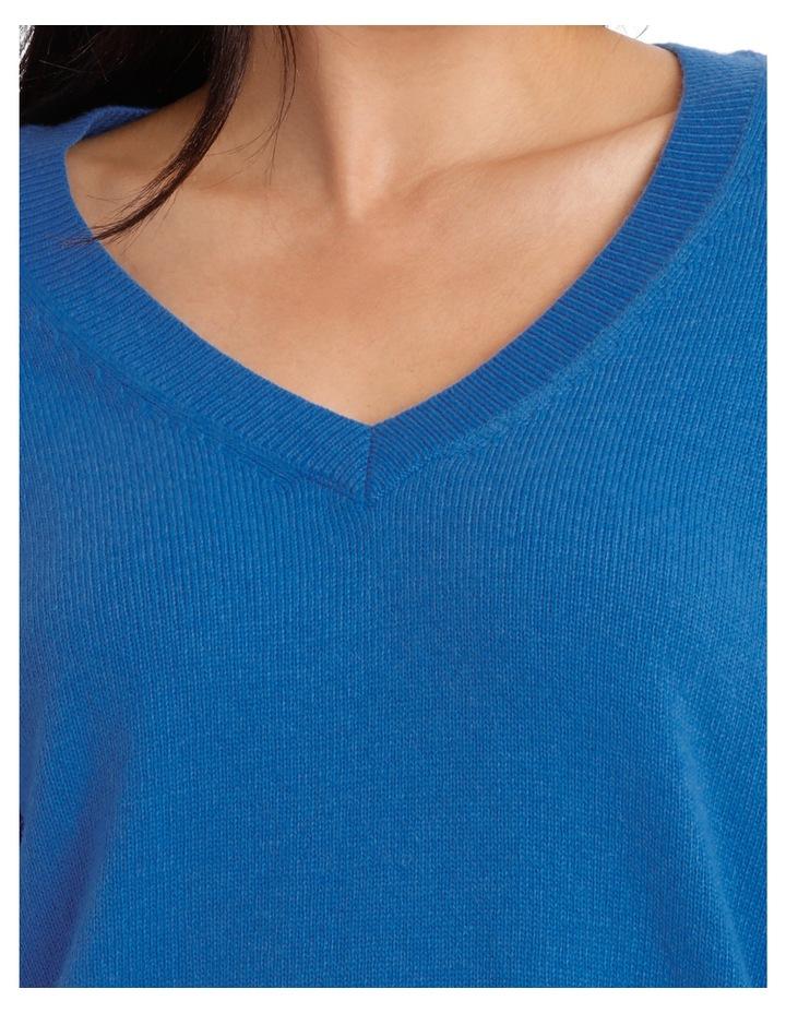Vee Neck Sweater Hi low image 4
