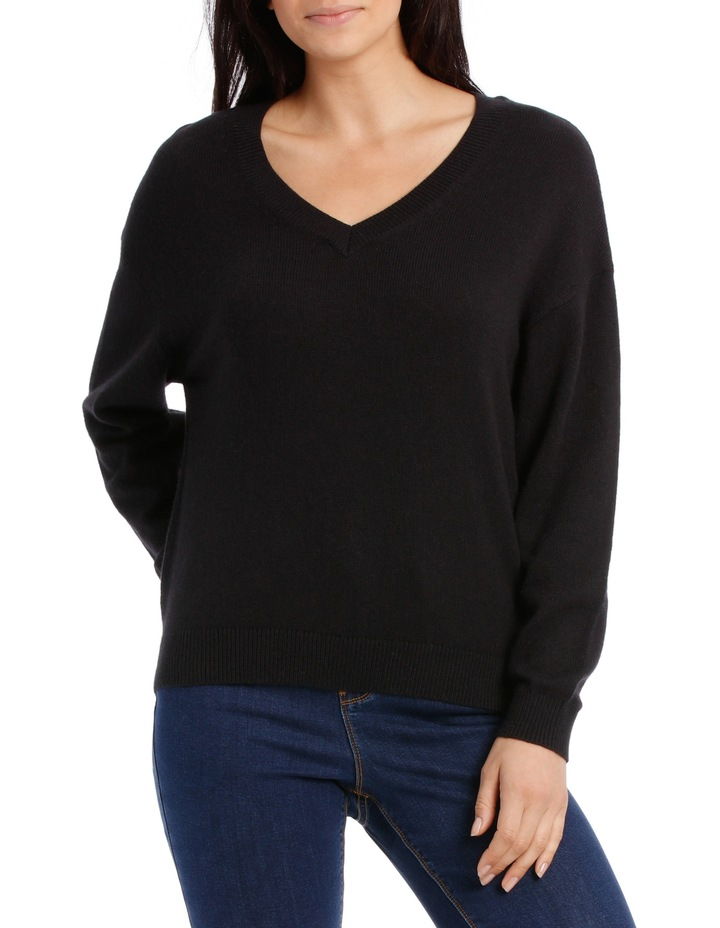 Vee Neck Sweater Hi low image 1