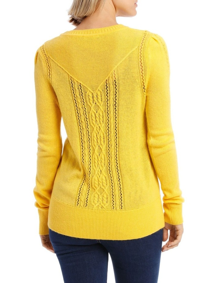 Sweater Cable Crew Neck and Fancy Stitch image 3
