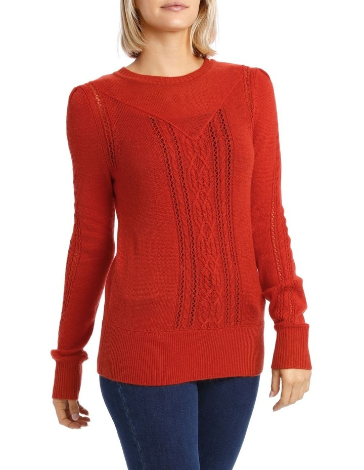 Sweater Cable Crew Neck and Fancy Stitch image 2
