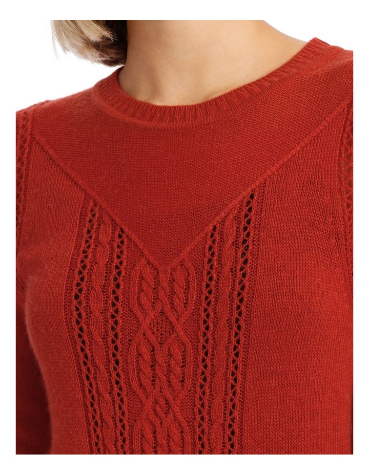 Sweater Cable Crew Neck and Fancy Stitch image 4