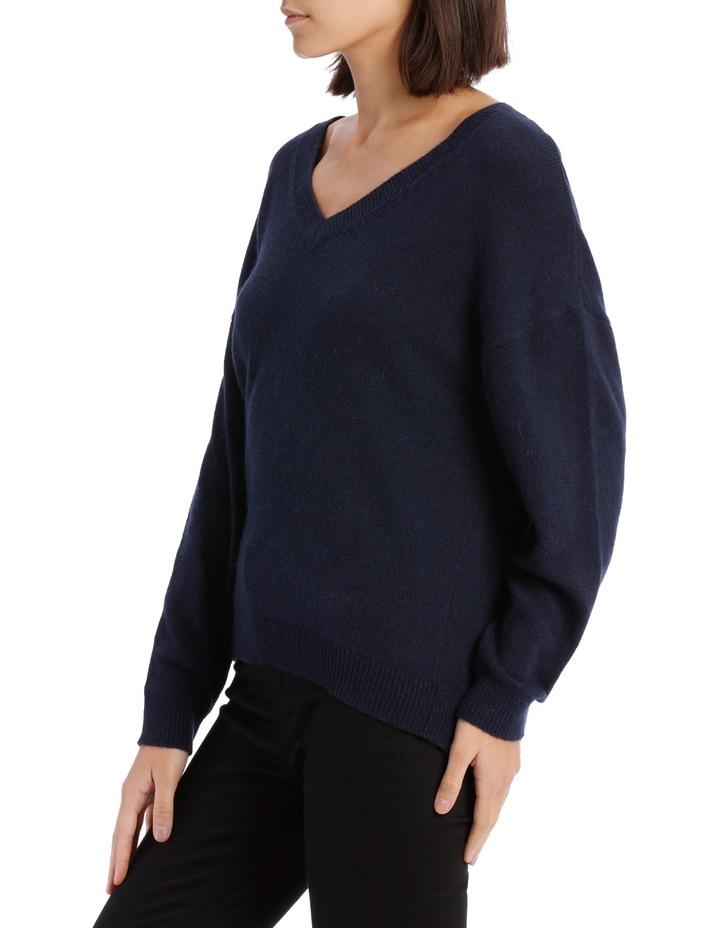 Vee Neck Sweater Hi Low image 2