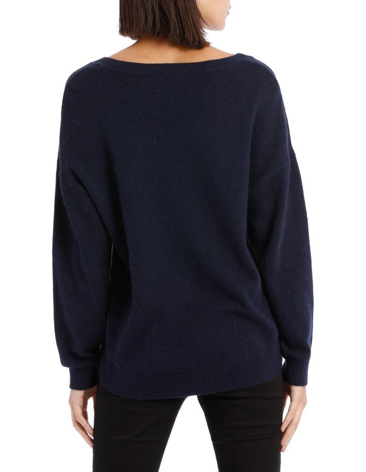 Vee Neck Sweater Hi Low image 3