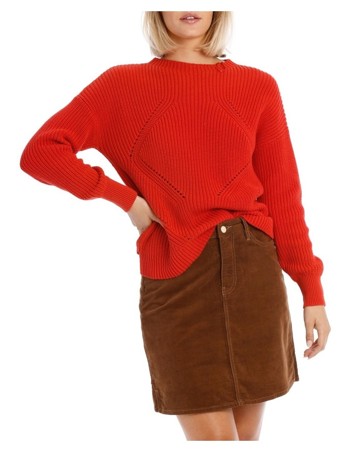 Sweater Crew Neck with Puff Sleeve image 1