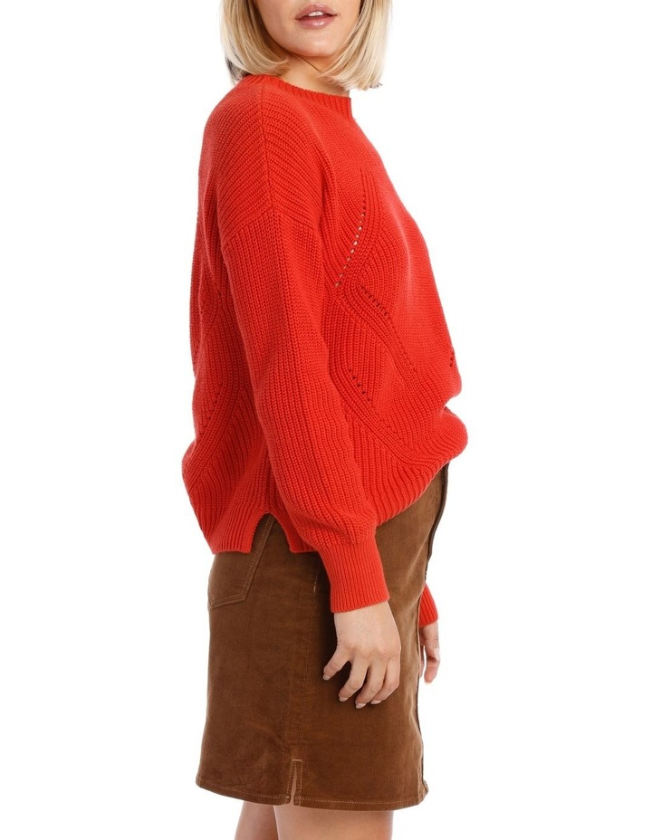 Sweater Crew Neck with Puff Sleeve image 2