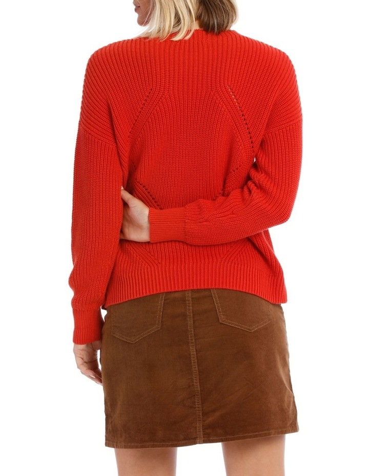 Sweater Crew Neck with Puff Sleeve image 3