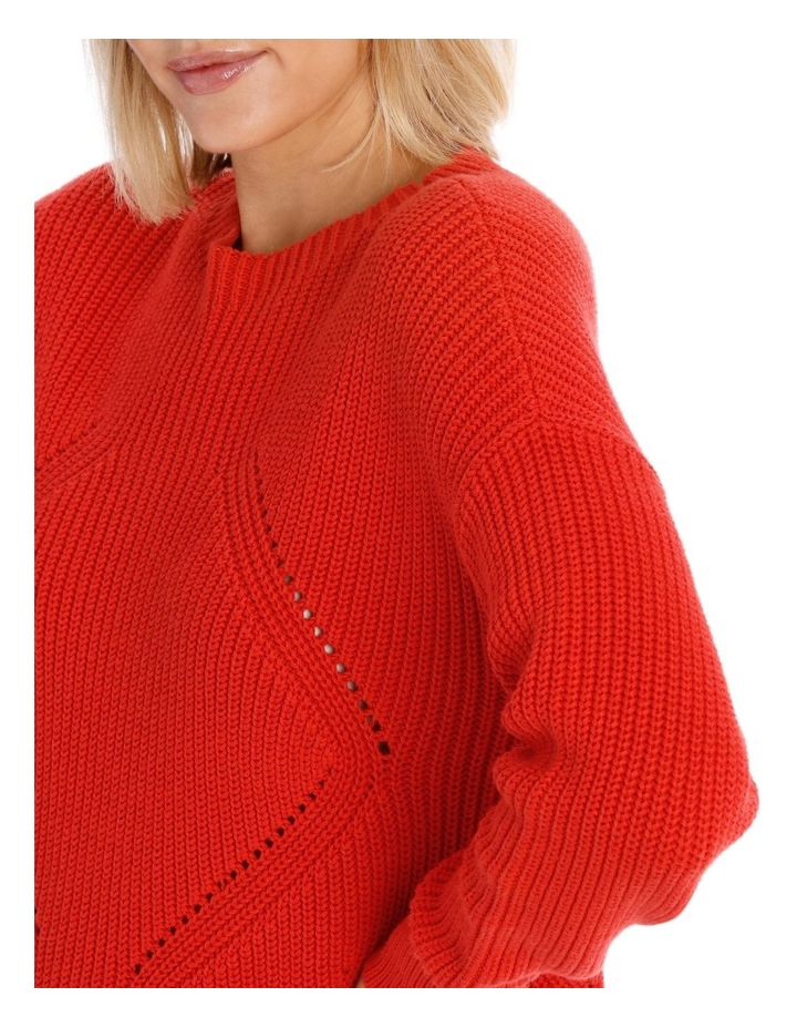 Sweater Crew Neck with Puff Sleeve image 4