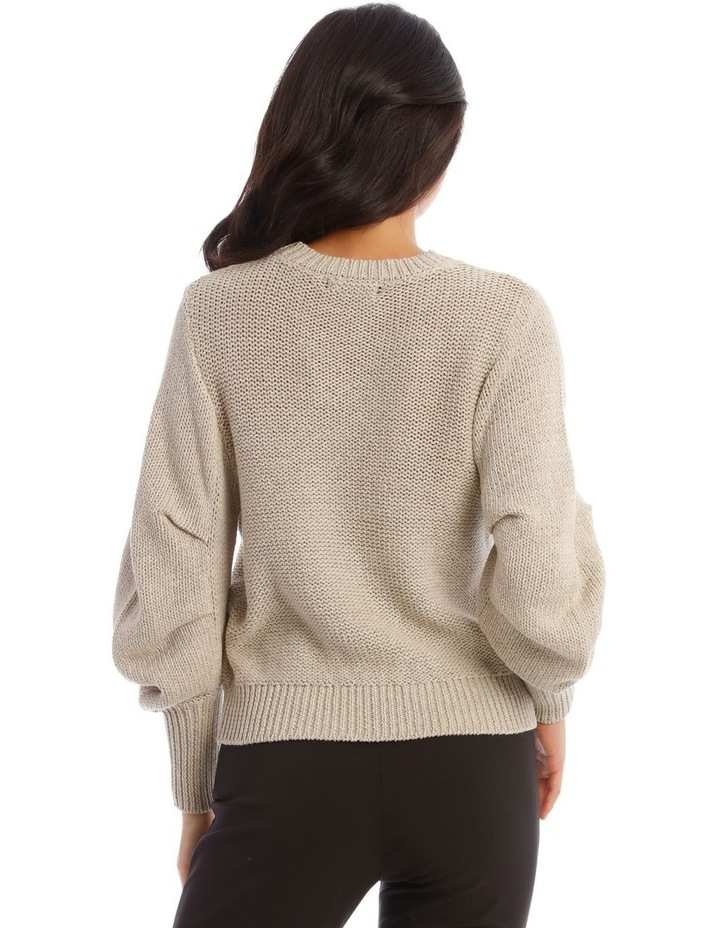 Rouched Rib Trim Jumper image 3
