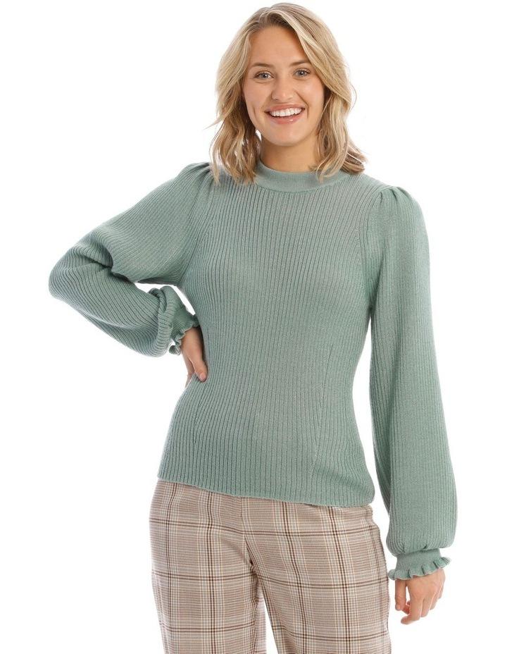 Ruffle Rib Insert Sweater image 1