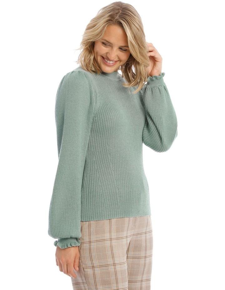 Ruffle Rib Insert Sweater image 2