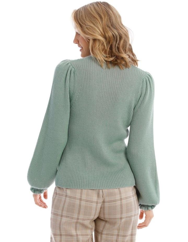 Ruffle Rib Insert Sweater image 3