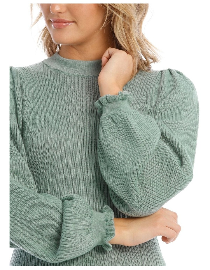 Ruffle Rib Insert Sweater image 4