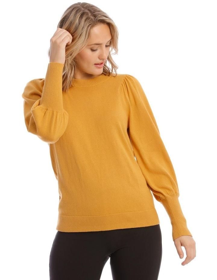 Sweater Fine Gauge Puff Sleeve image 1