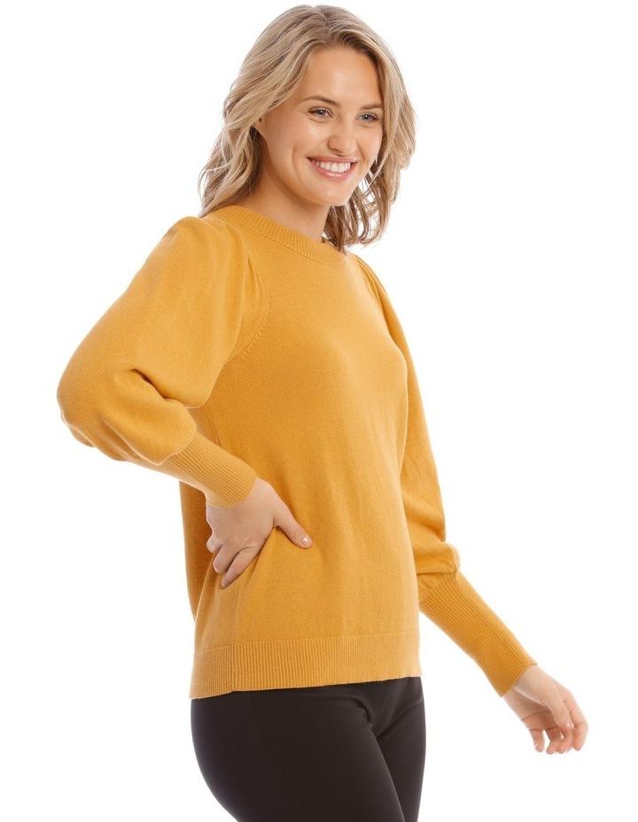 Sweater Fine Gauge Puff Sleeve image 2