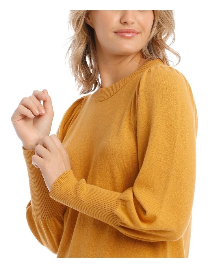 Sweater Fine Gauge Puff Sleeve image 4