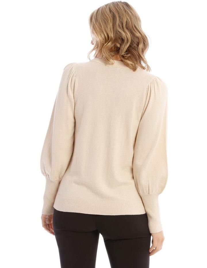 Sweater Fine Gauge Puff Sleeve image 3