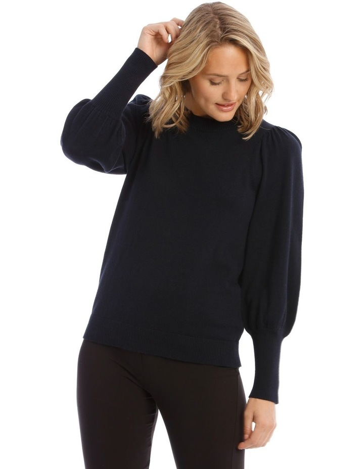 Sweater Fine Gauge Puff Sleeve image 1