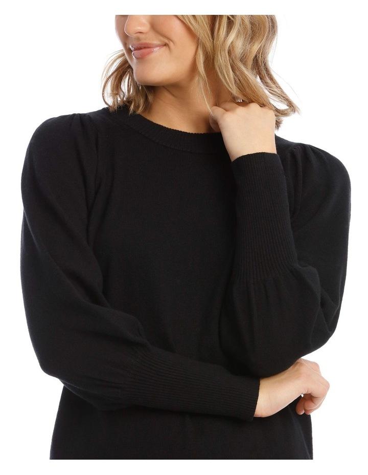 Fine Gauge Puff Sleeve Sweater image 4