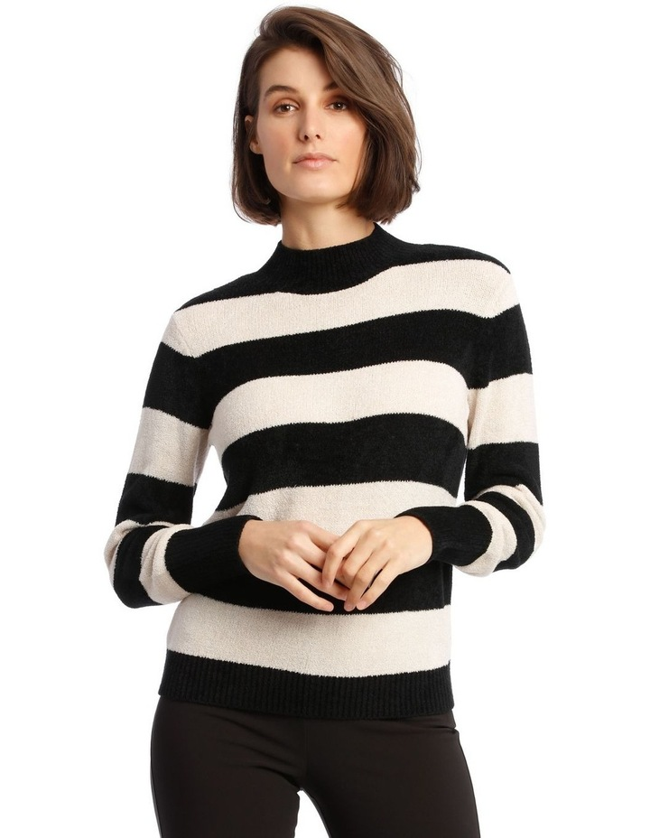 Fine Roll Neck Chenille Sweater image 1